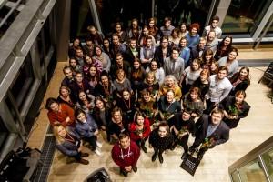 Latvijas Kultūras kanona konkursa finālisti un žūrijas locekļi. Foto: Aija Melbārde